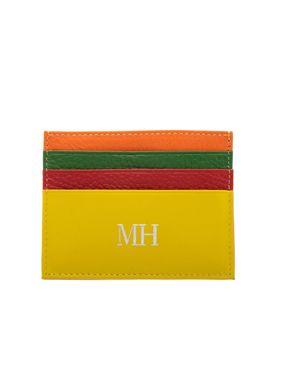 tarjetero-extraplano-naranja-multicolor-sarah